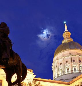 Georgia Capitol in moonlight