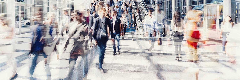 People rushing