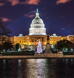 U.S. Capitol at night